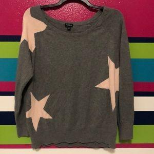 Gray star sweater